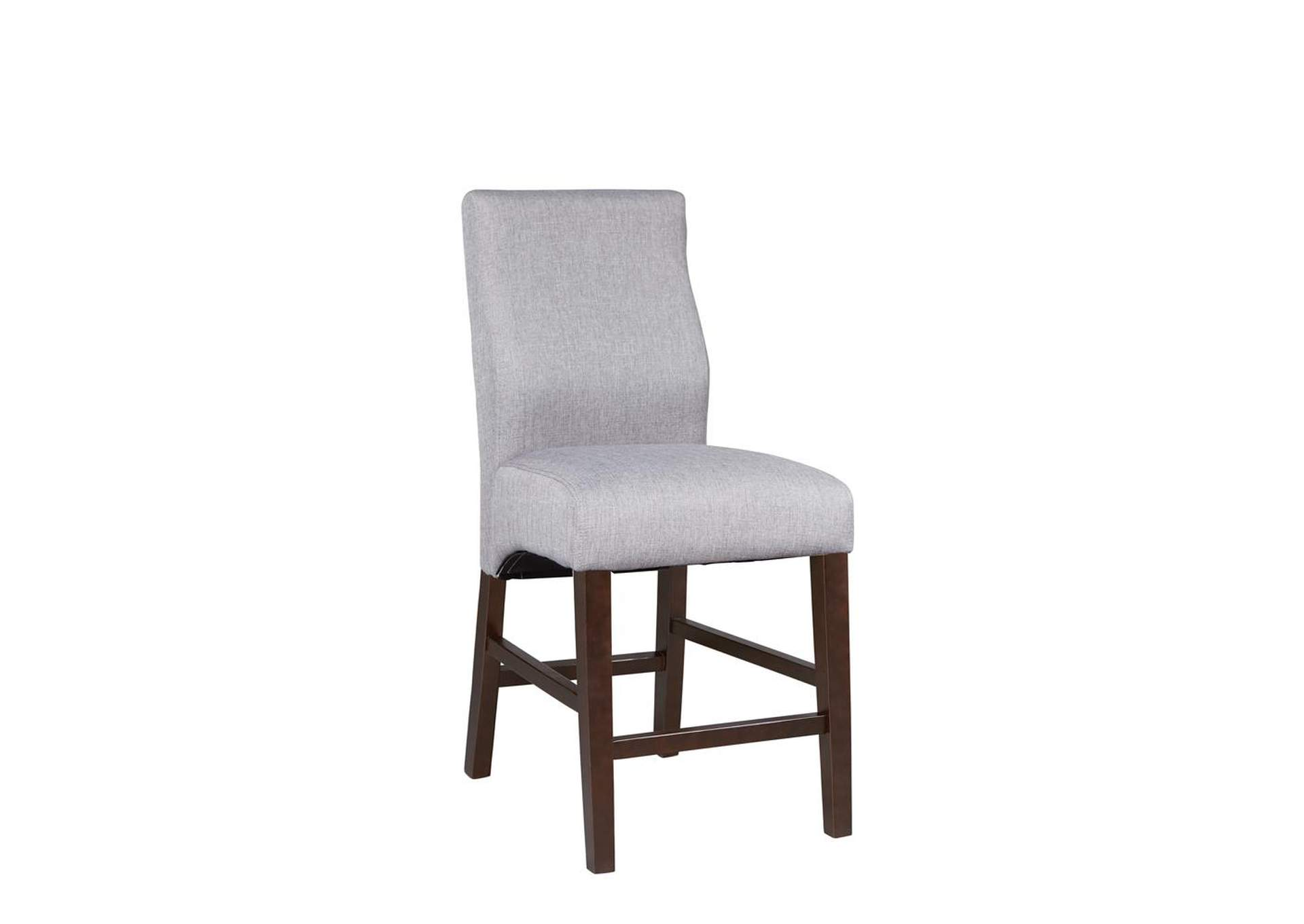 Grey Upholstered Counter Stool (Set of 2),Coaster Furniture