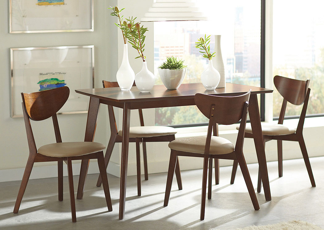 Ashton Home Furniture Kersey Walnut Dining Table w/4 Side Chairs