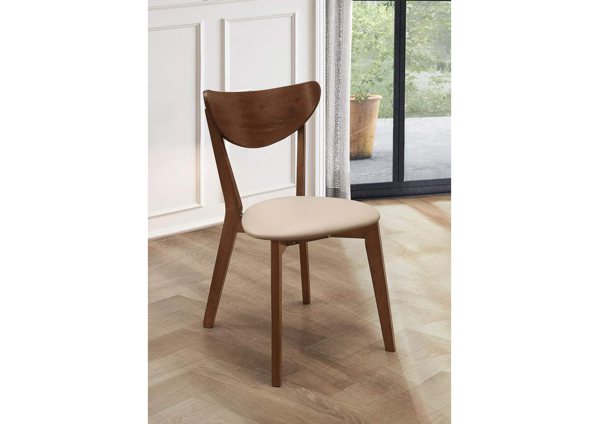Kersey Retro Chestnut Dining Chair (Set of 2),Coaster Furniture