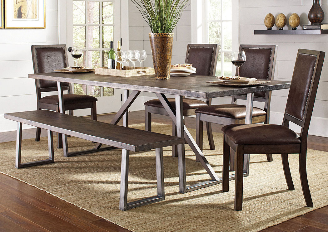 Merveilleux Jerusalem Furniture Philadelphia Furniture Store | Home Furnishings  Philadelphia, PA Genoa Dining Collection Wire Brushed Cocoa/ Black Dining  Table