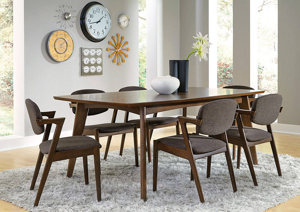 Lancaster\'s Furniture To Go!! Walnut Dining Table w/6 Chairs