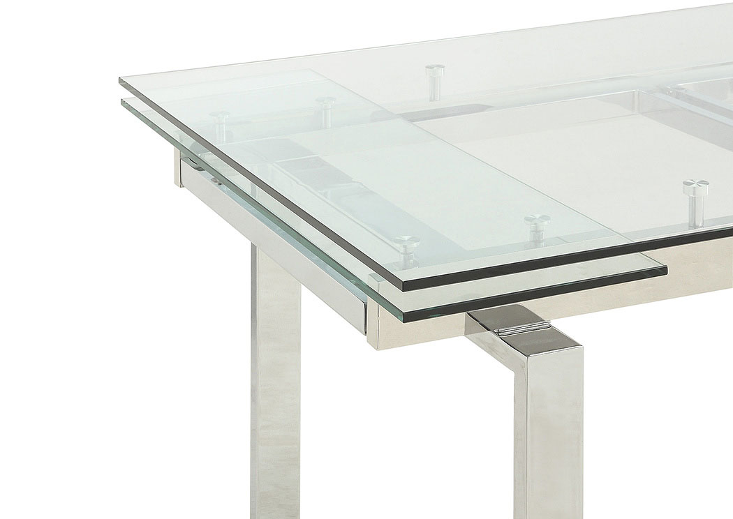 Gray Nurse Contemporary Wexford Chrome Dining Table,Coaster Furniture