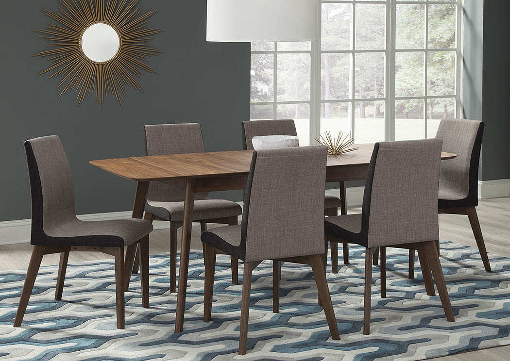 Best Buy Furniture and Mattress Natural Walnut Dining Table ...