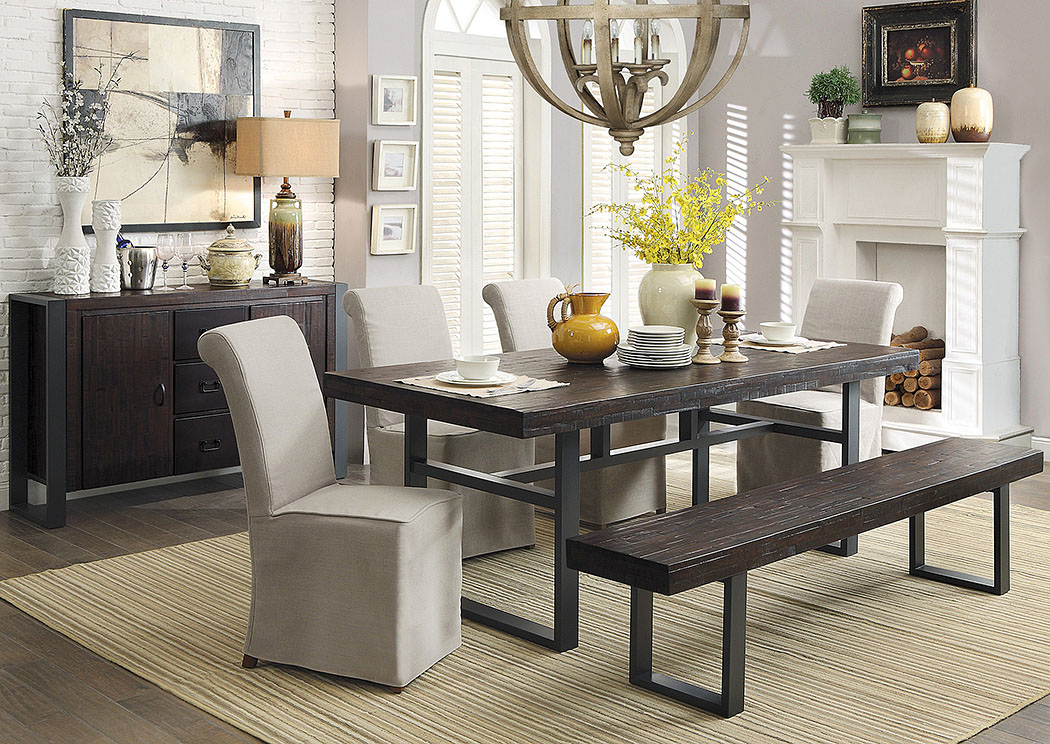 Affordable Furniture U0026 Carpet   Chicago, IL Reclaimed Wood Dining Table