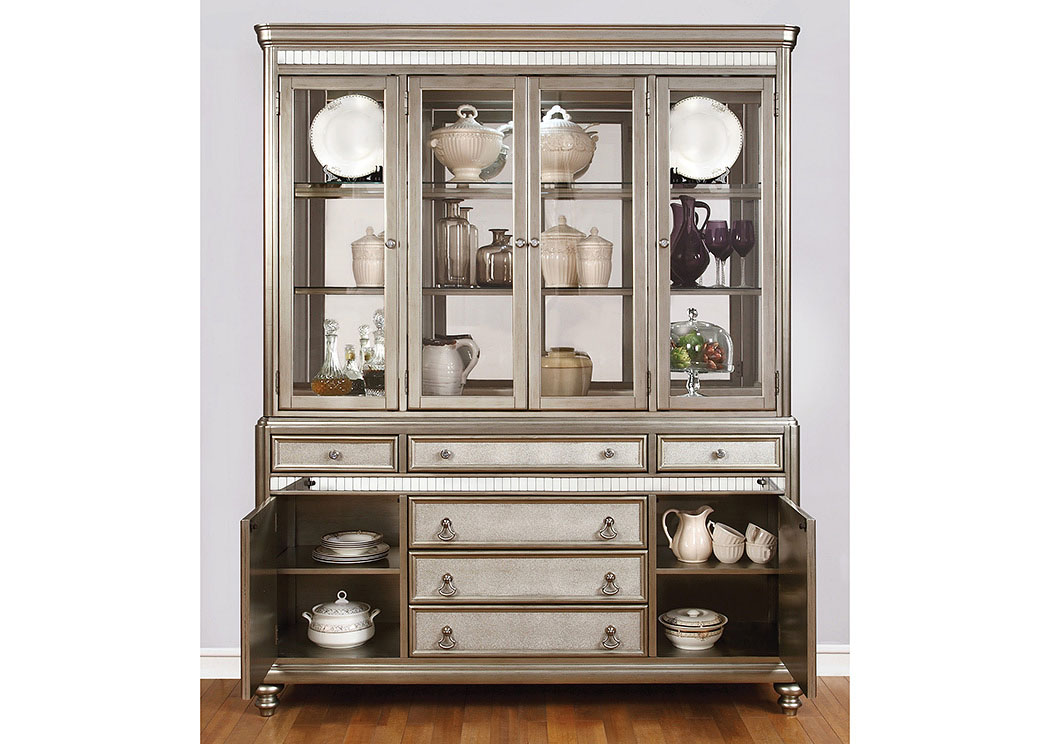 Metallic Platinum China Cabinet,Coaster Furniture