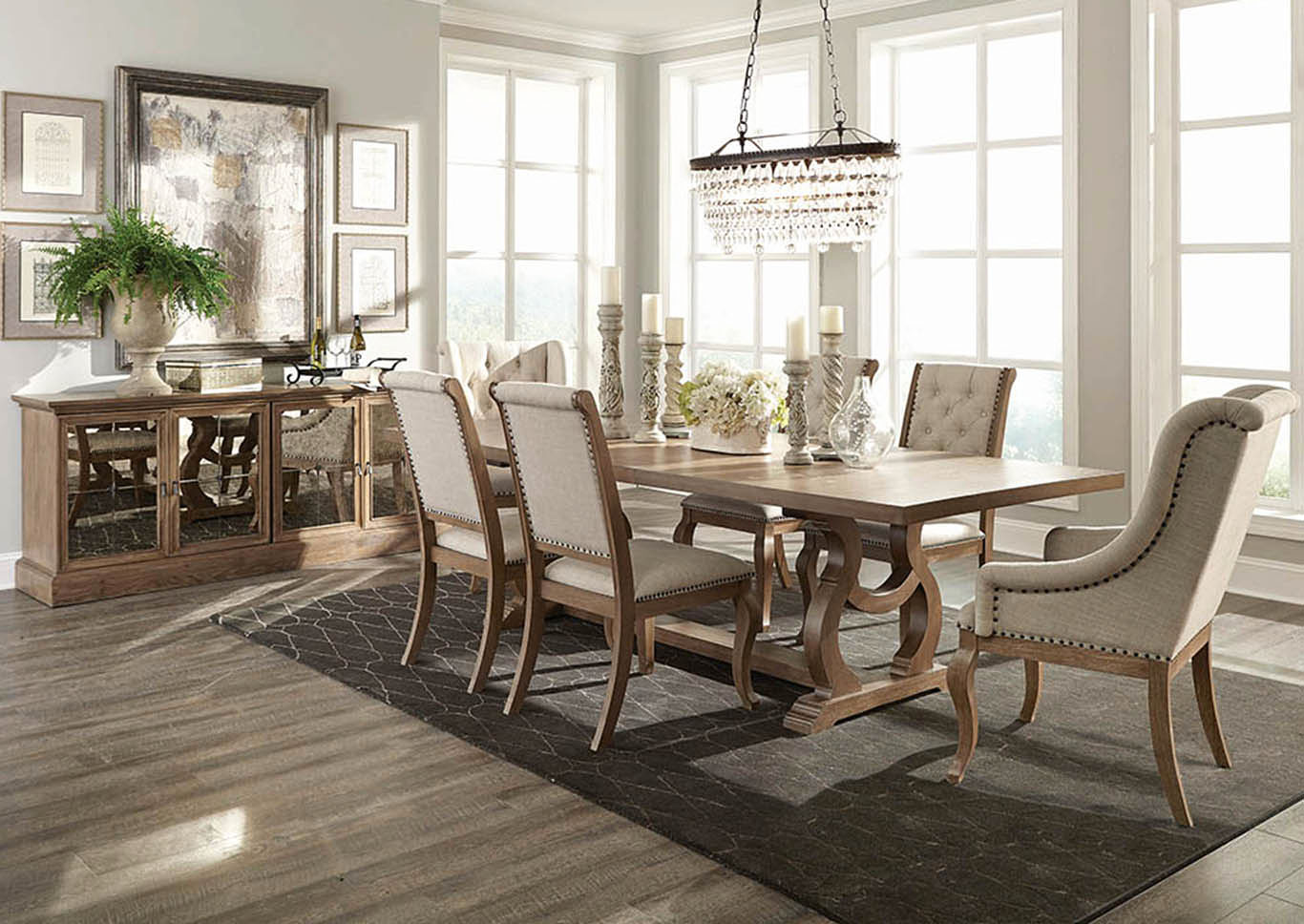 Glen Cove Barley Brown Dining Table,Coaster Furniture