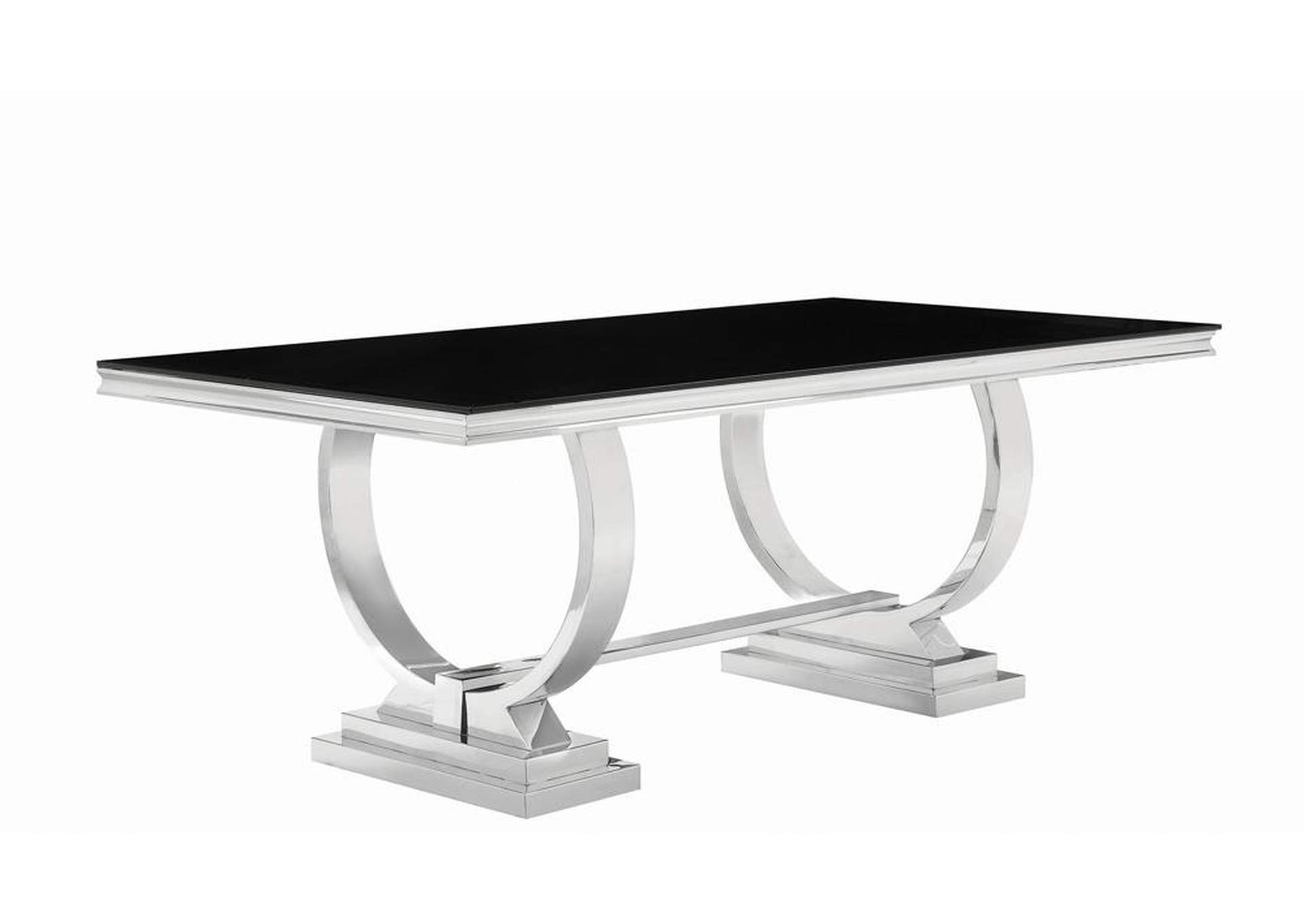 Black/Chrome  Dining Table,Coaster Furniture