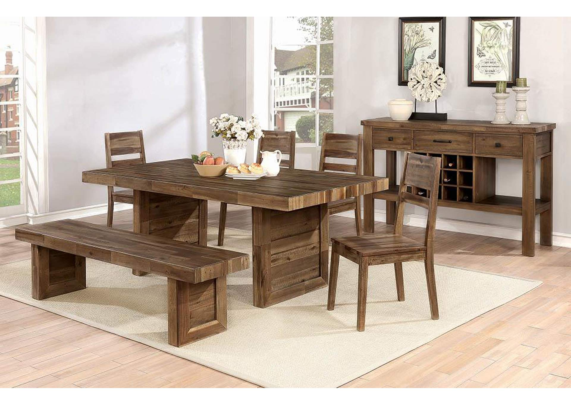 Tucson Rustic Varied Natural Server,Coaster Furniture
