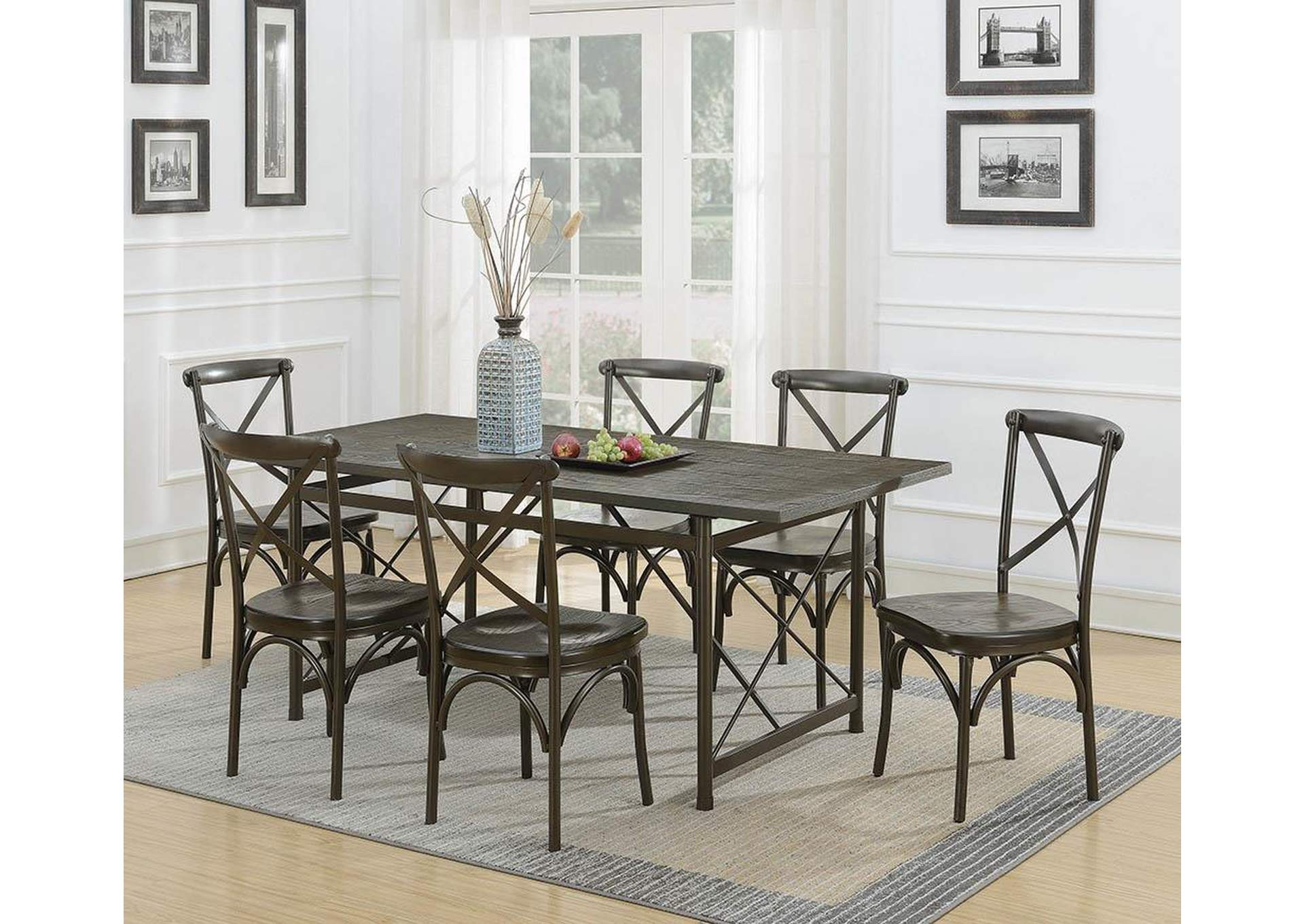 Hawthorne Chic Brown Dining Table,Coaster Furniture