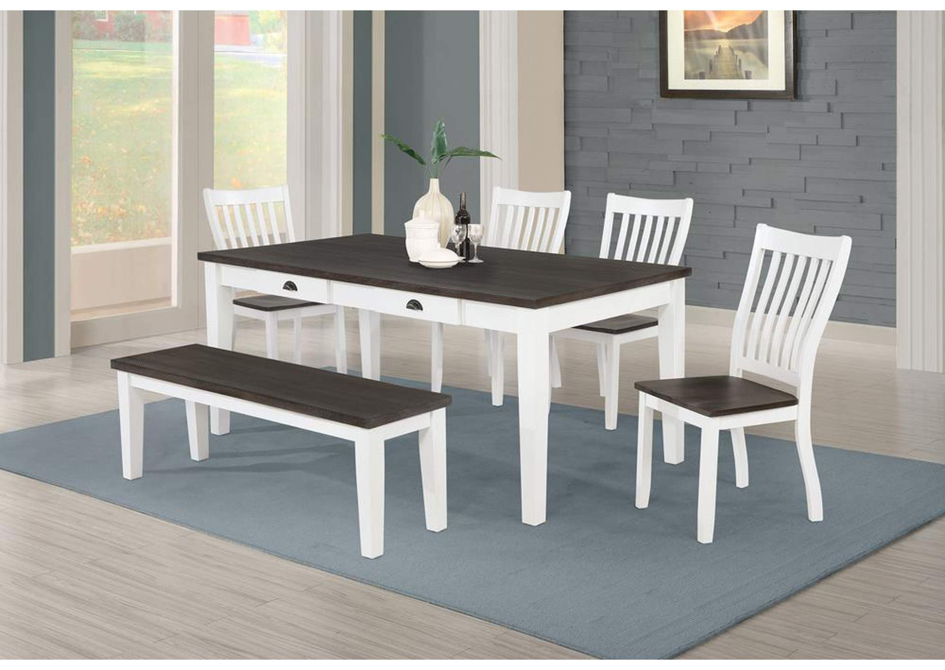 Kingman Espresso & White Bench,Coaster Furniture
