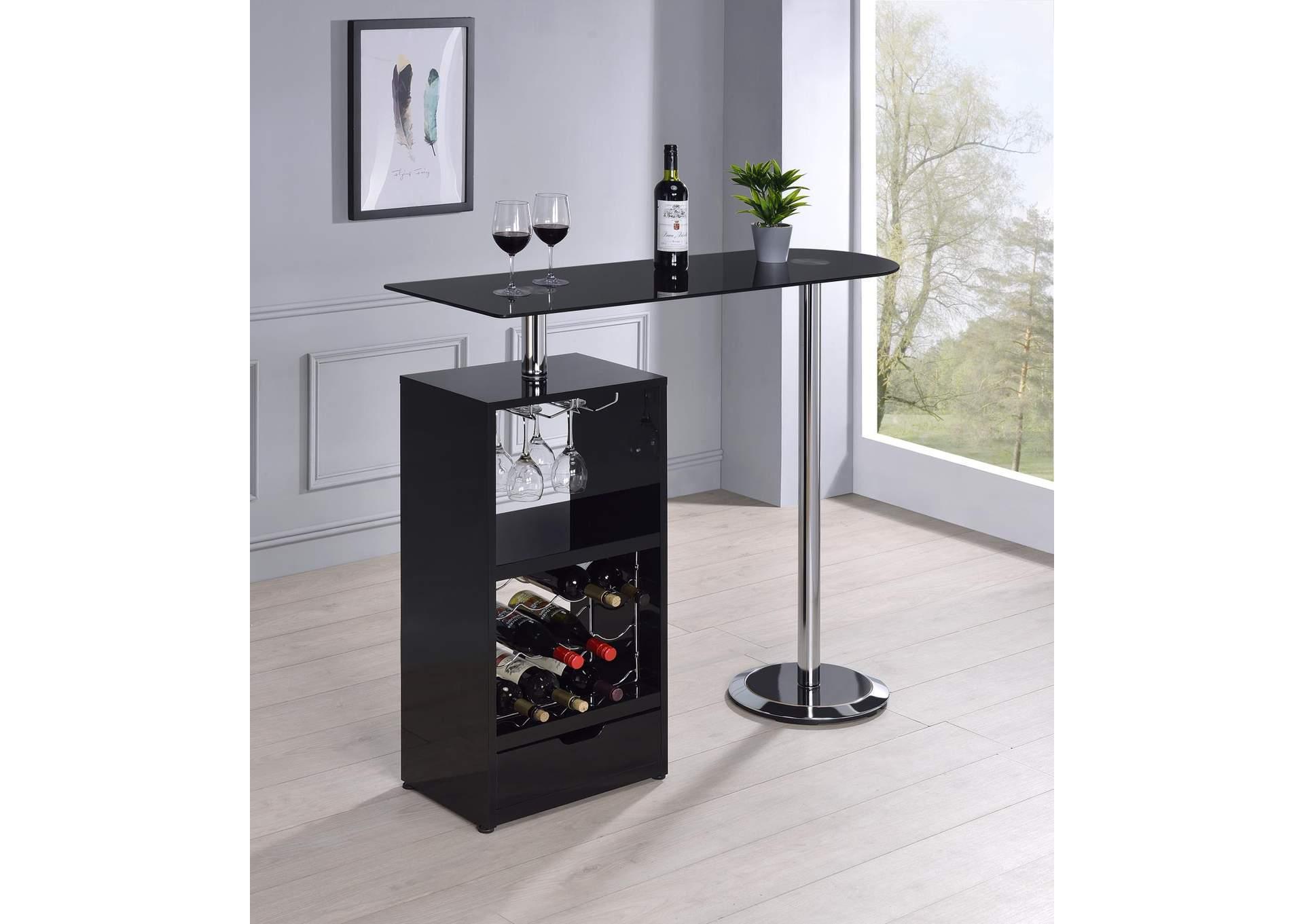 Selmers Home Furnishing Aberdeen Wa Black Revolving Bar Table