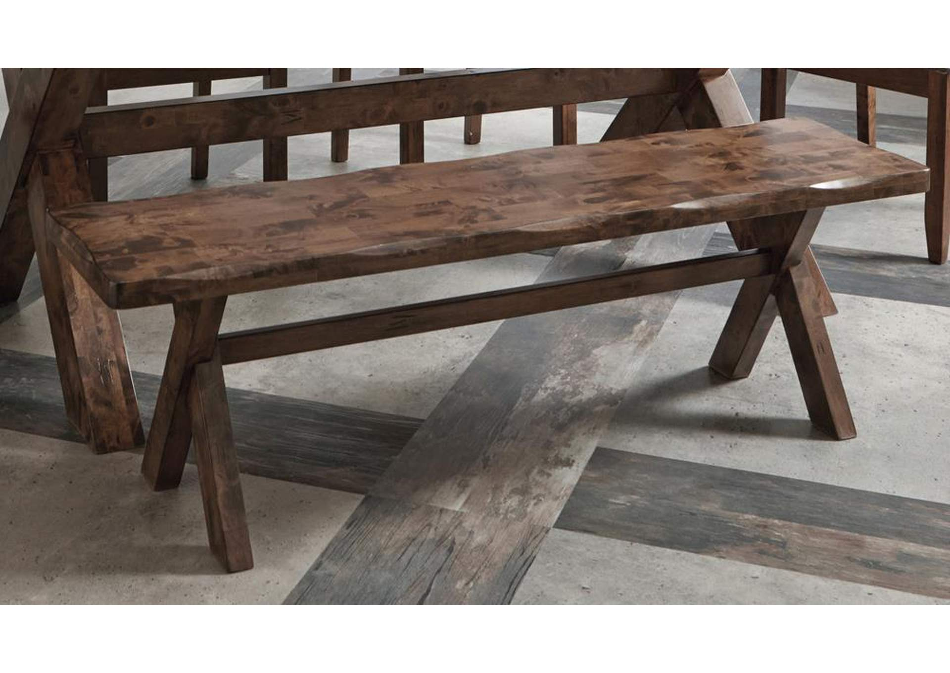 Alston Rustic Knotty Nutmeg Bench,Coaster Furniture