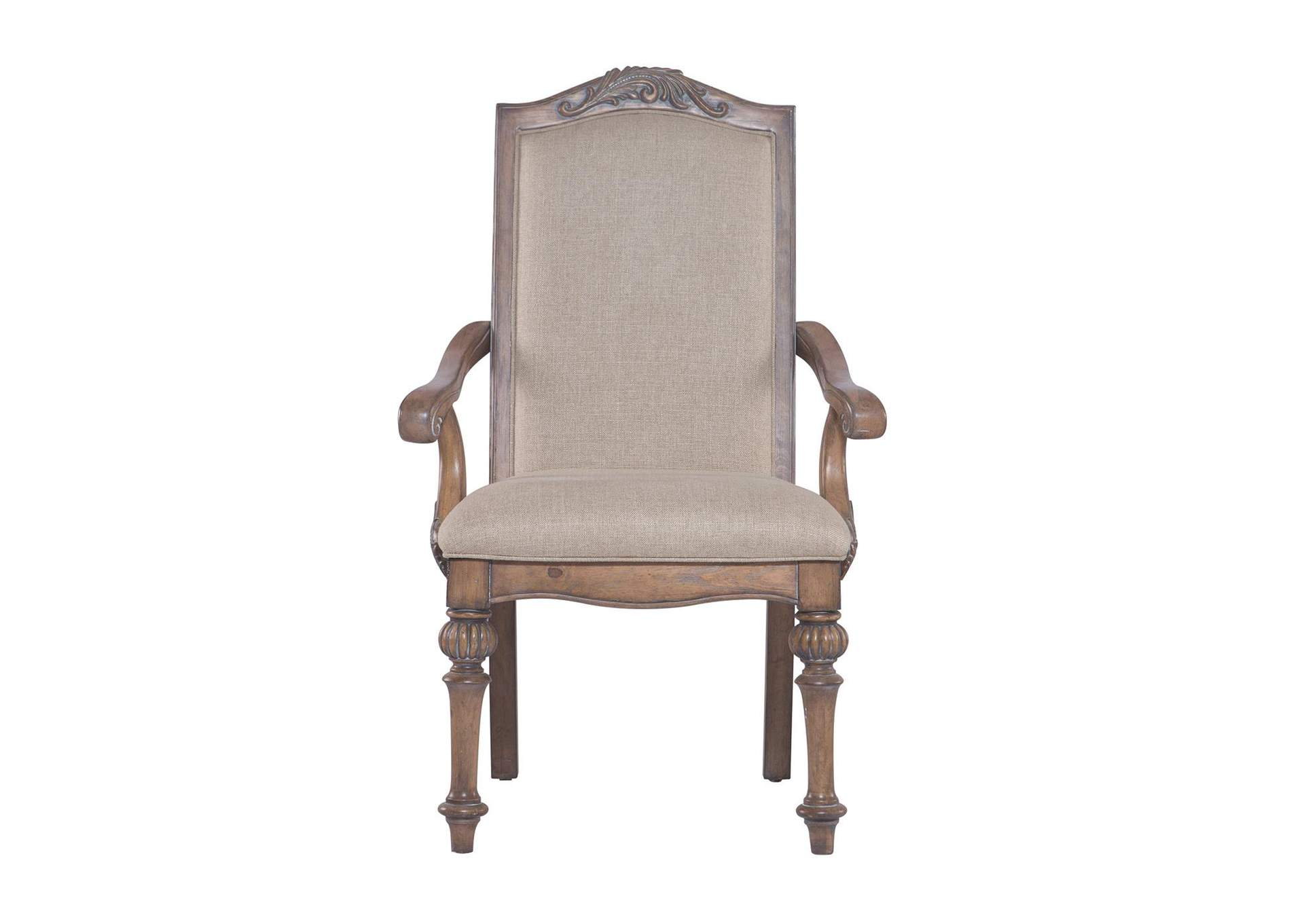 Antique Linen Arm Chair (Set of 2),Coaster Furniture