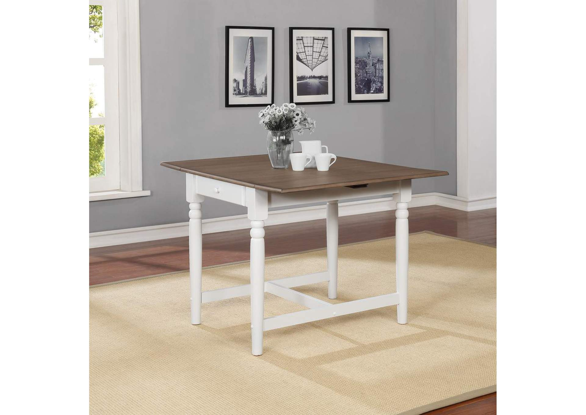 Hesperia Cottage White Dining Table,Coaster Furniture
