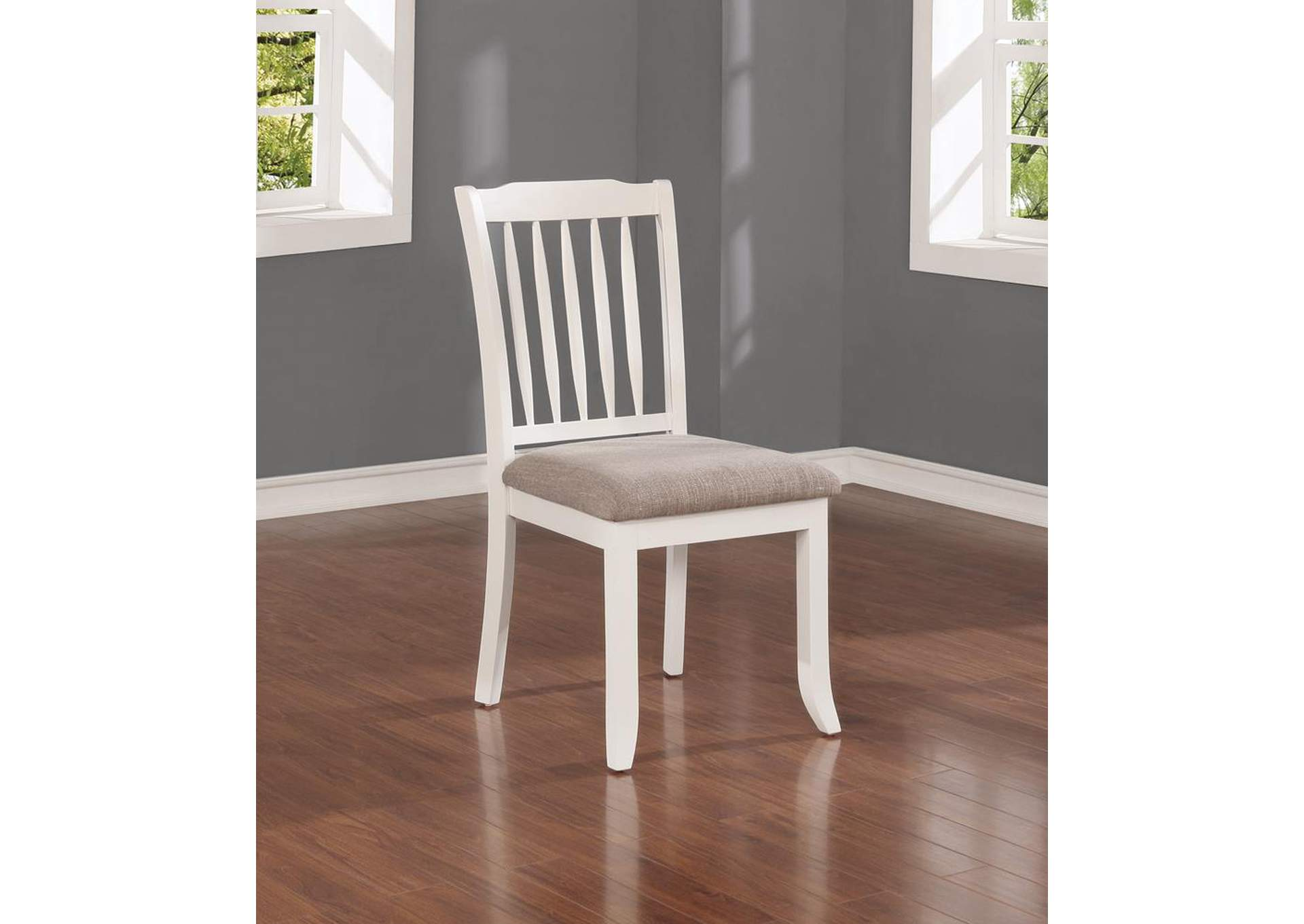 Hesperia Cottage White Side Chair (Set of 2),Coaster Furniture
