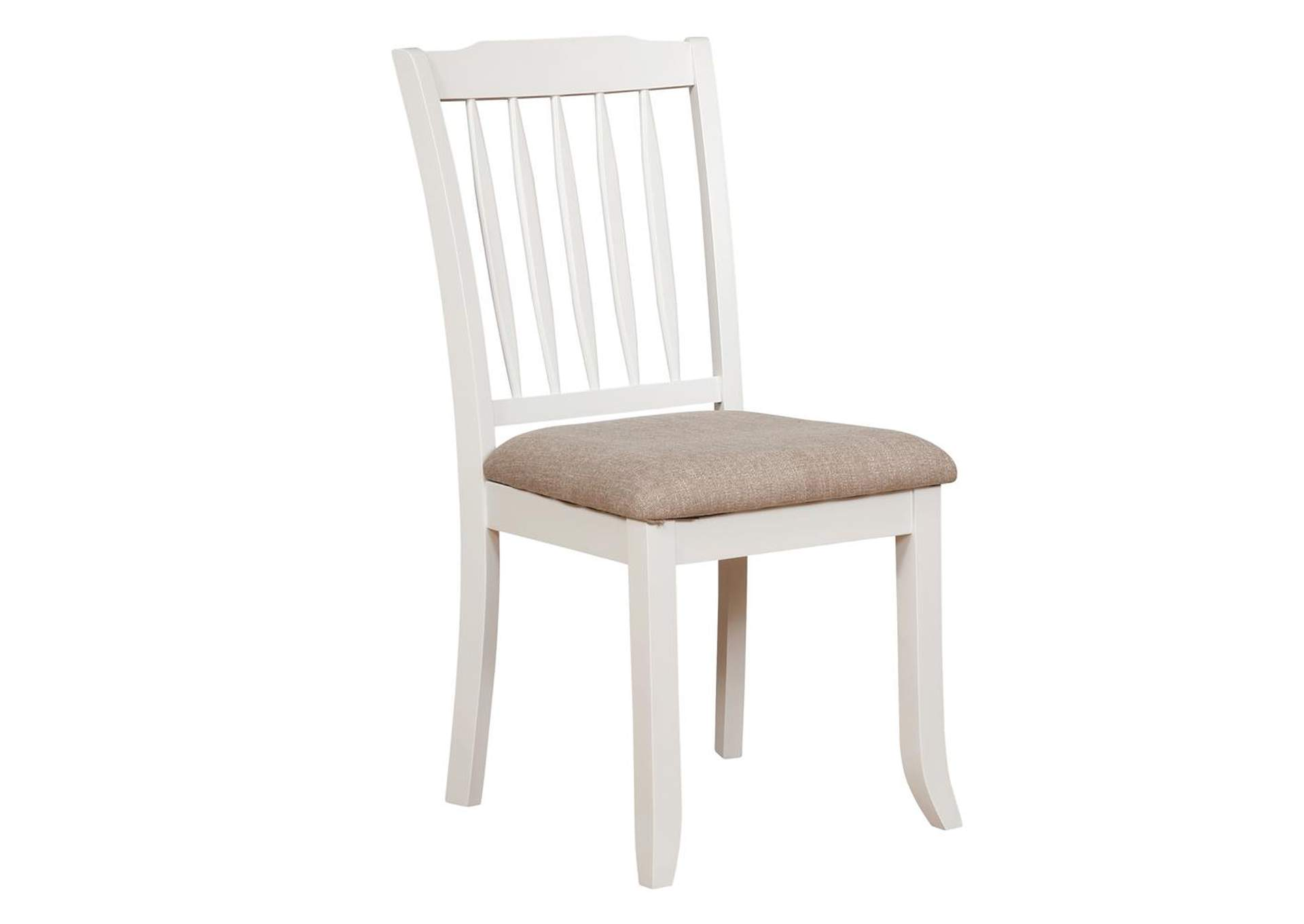 Westar Hesperia Cottage White Side Dining Chair [Set of 2],Coaster Furniture