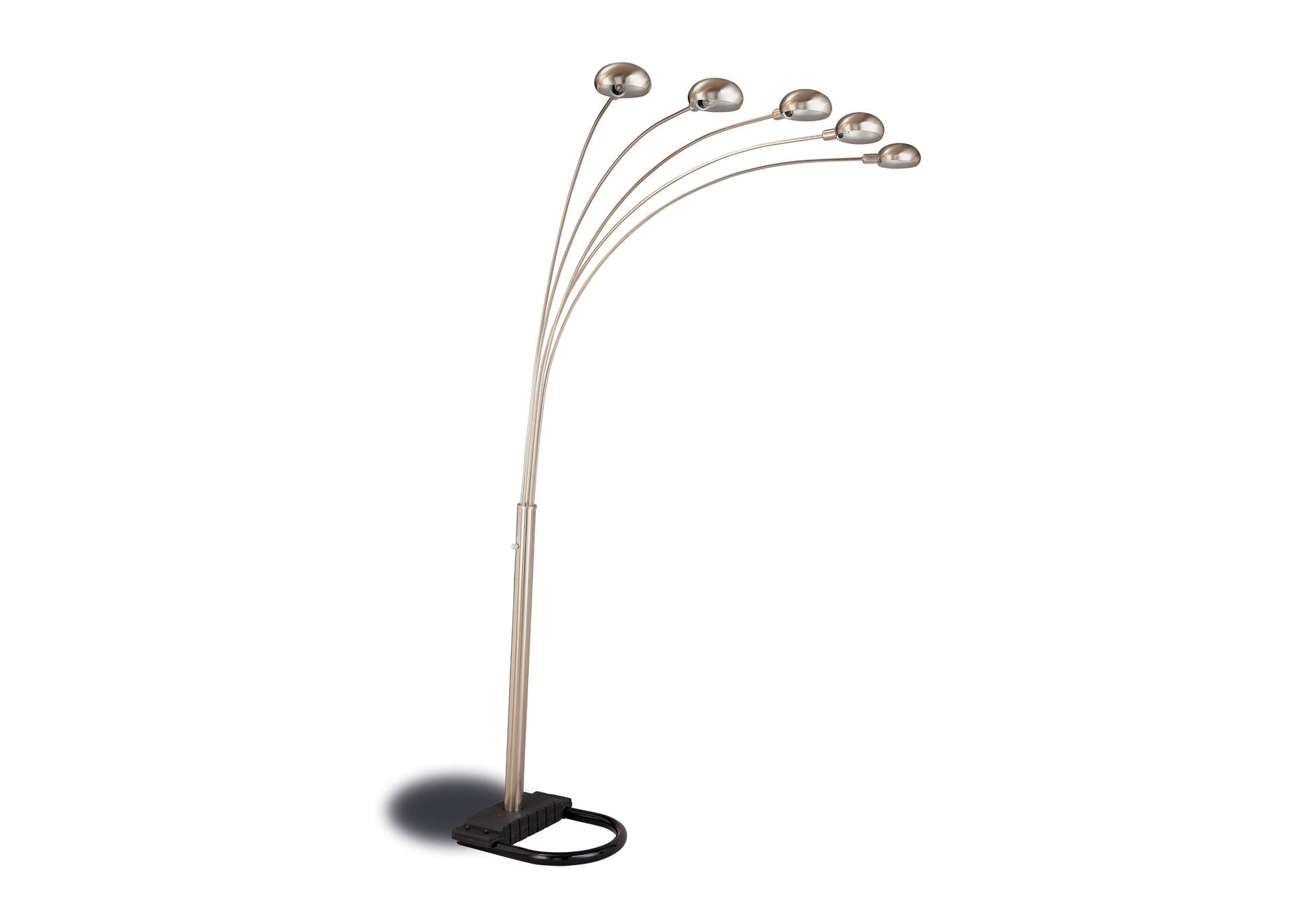 Chrome and Black Floor Lamp,Coaster Furniture