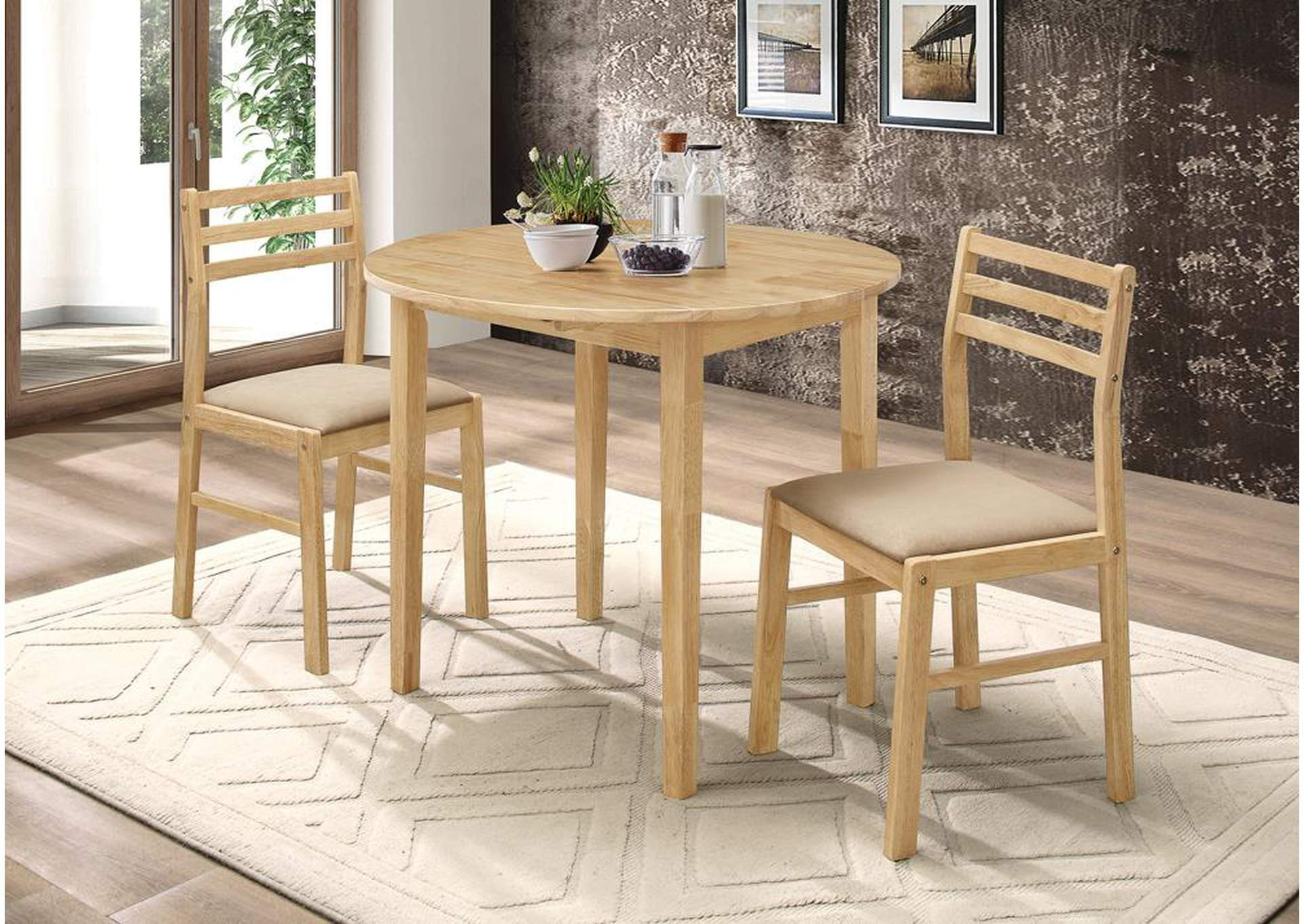 Beige & Natural/ White 3pc Set,Coaster Furniture