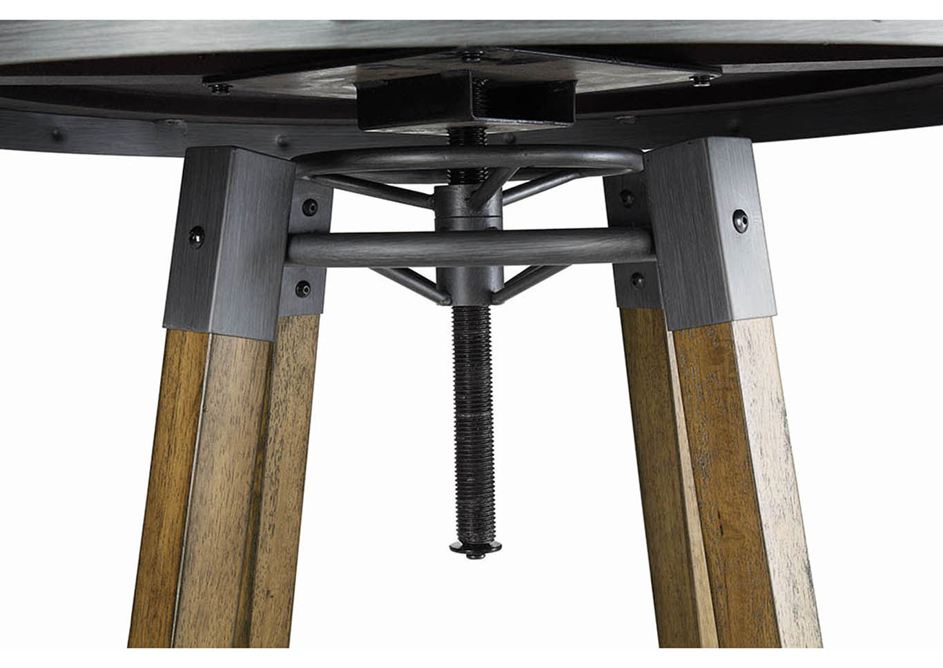 Hornell Rustic Adjustable Bar Table,Coaster Furniture