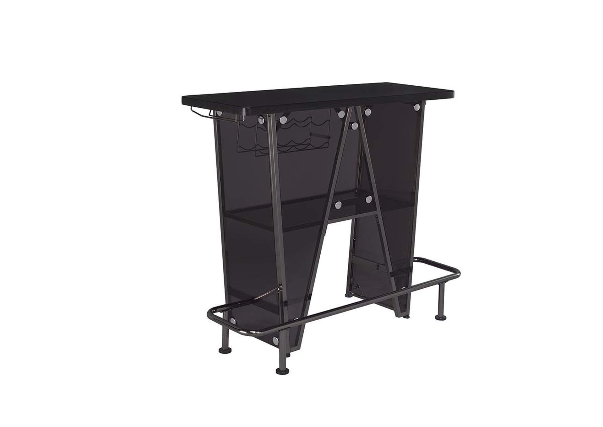 Dark Charcoal Bar Unit,Coaster Furniture