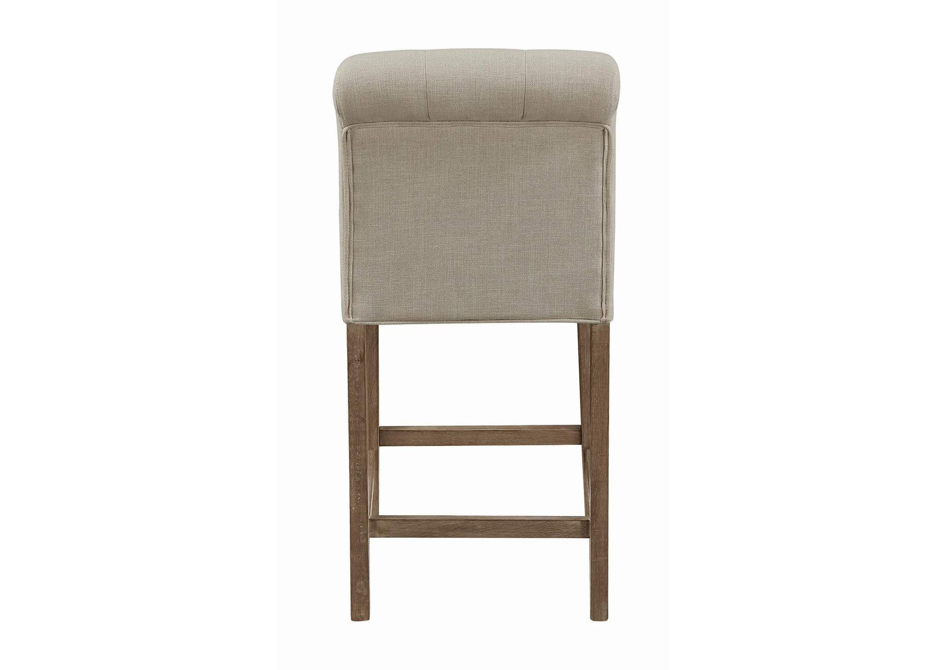 Beige & Pine Upholstered Counter Height Stool (Pack of 2),Coaster Furniture