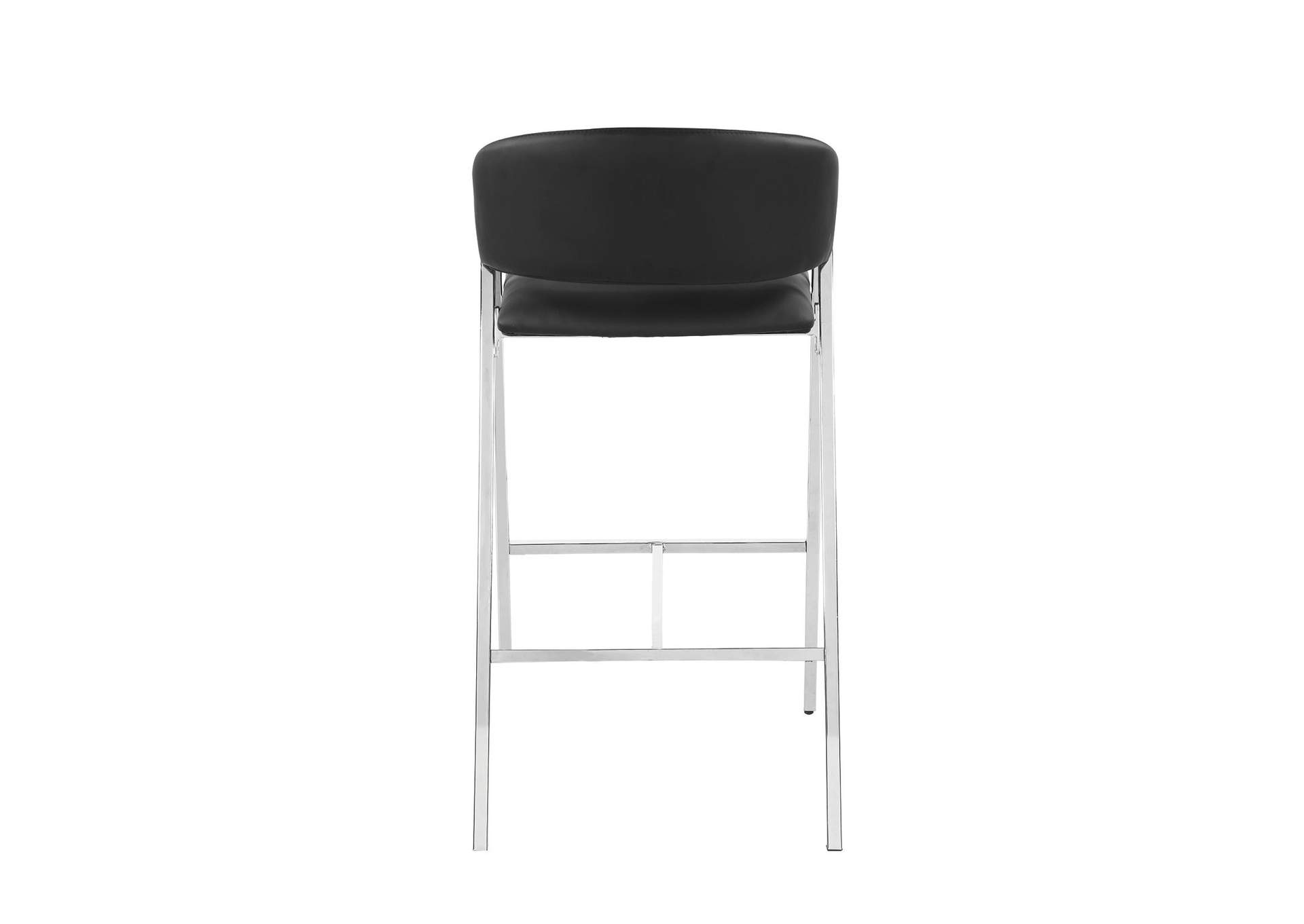 Black and Chrome Bar Stool (Set of 2),Coaster Furniture