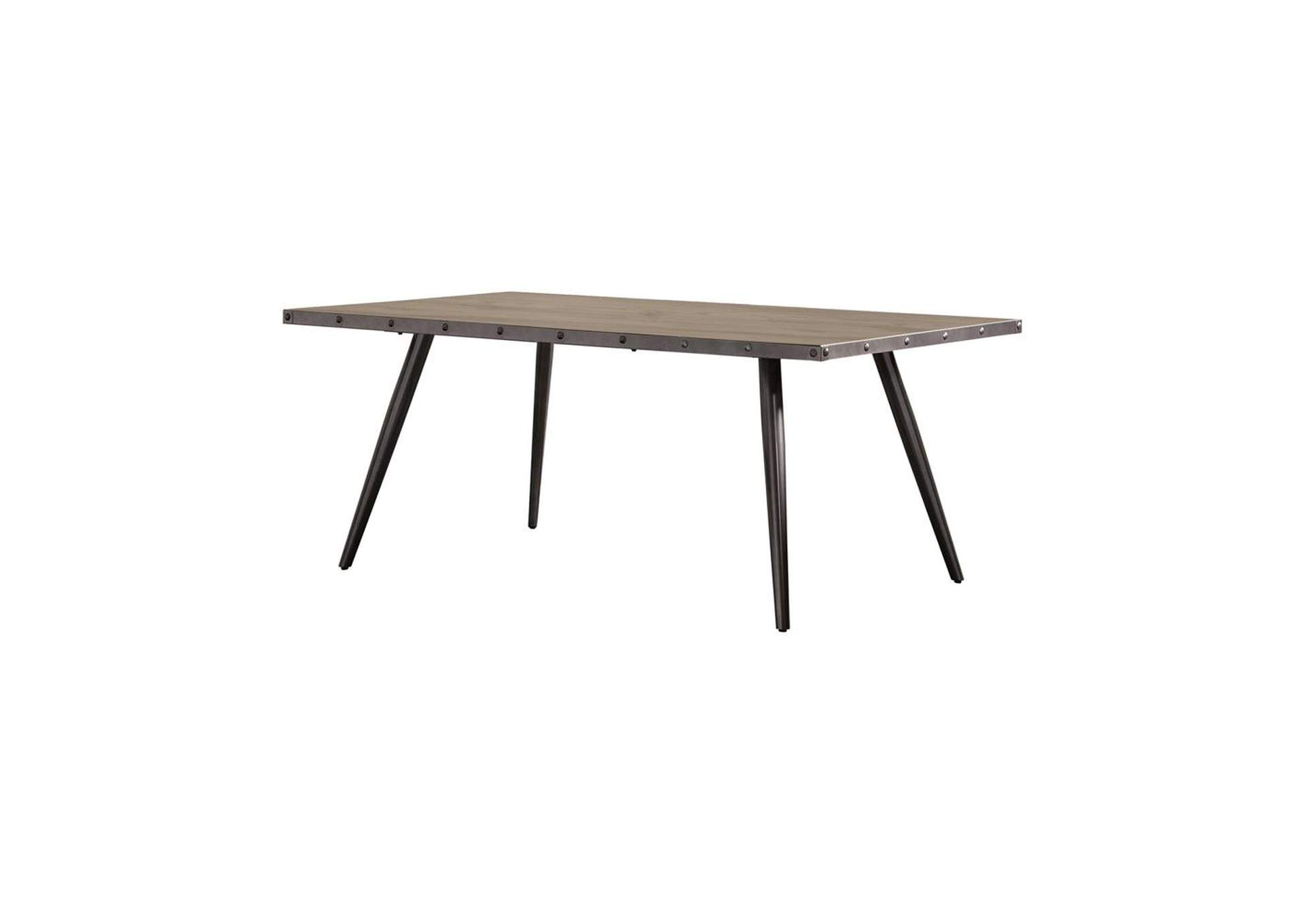 Donkey Brown Levitt Mid-Century Modern Dining Table,Coaster Furniture