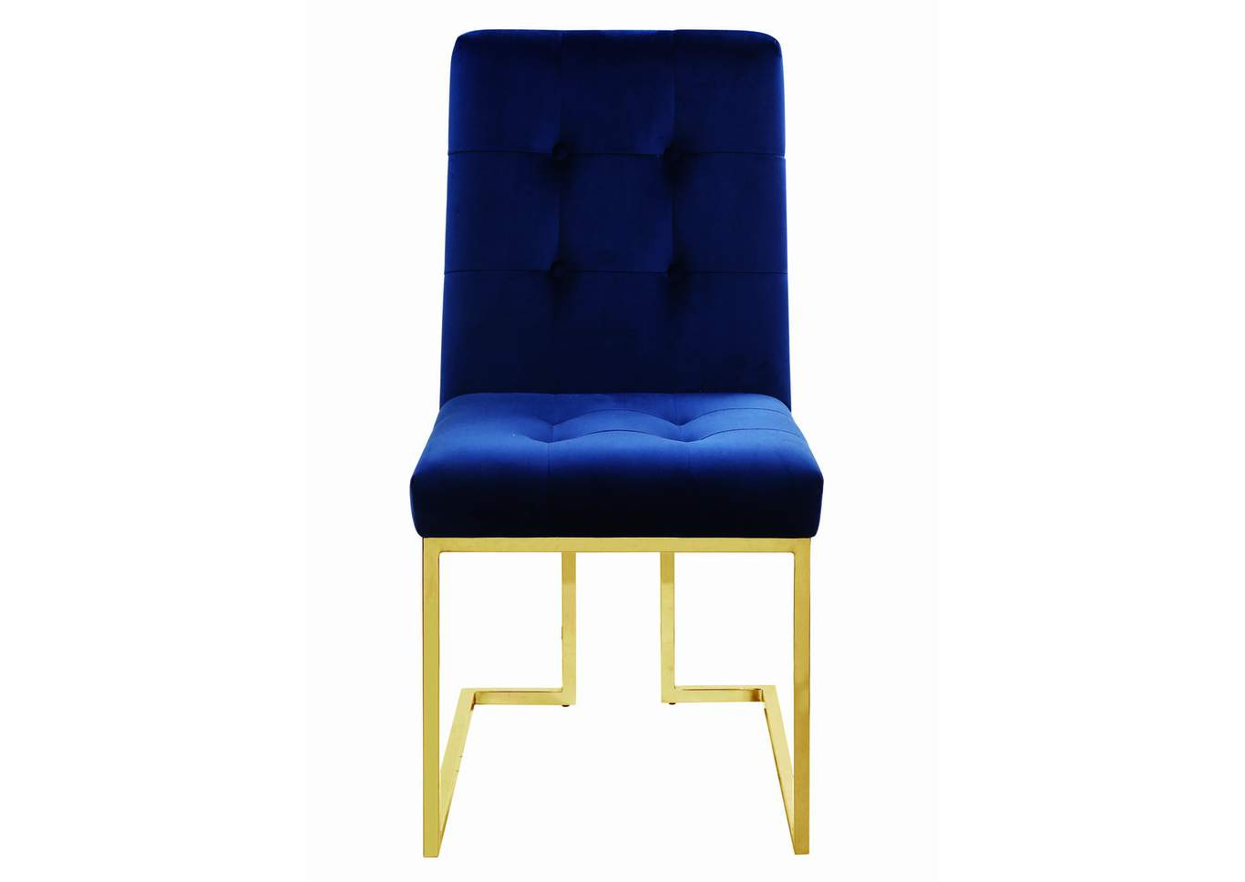 Ink Blue and Gold Dining Chair (Set of 2),Coaster Furniture