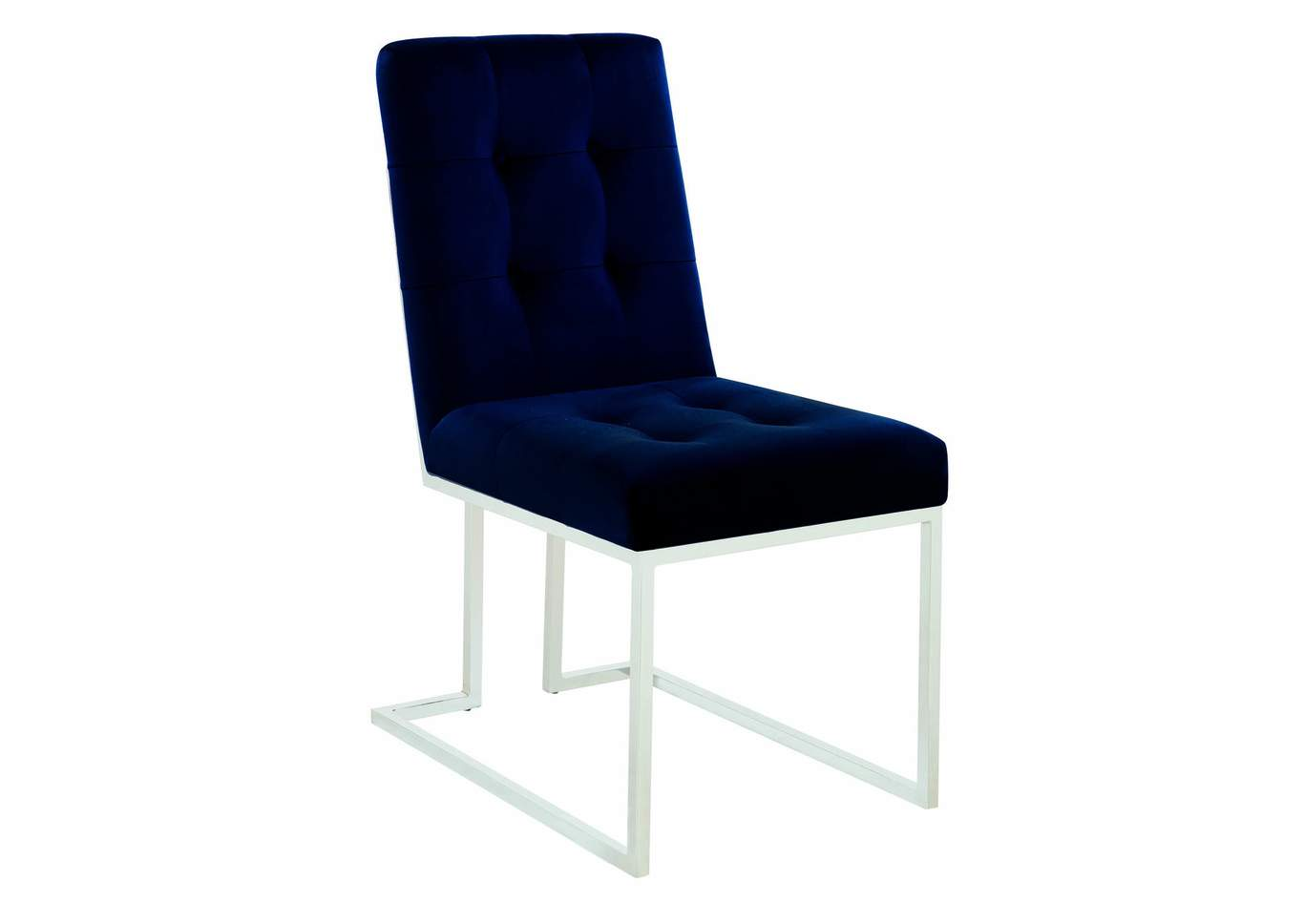 Ink Blue and Chrome Dining Chair (Set of 2),Coaster Furniture