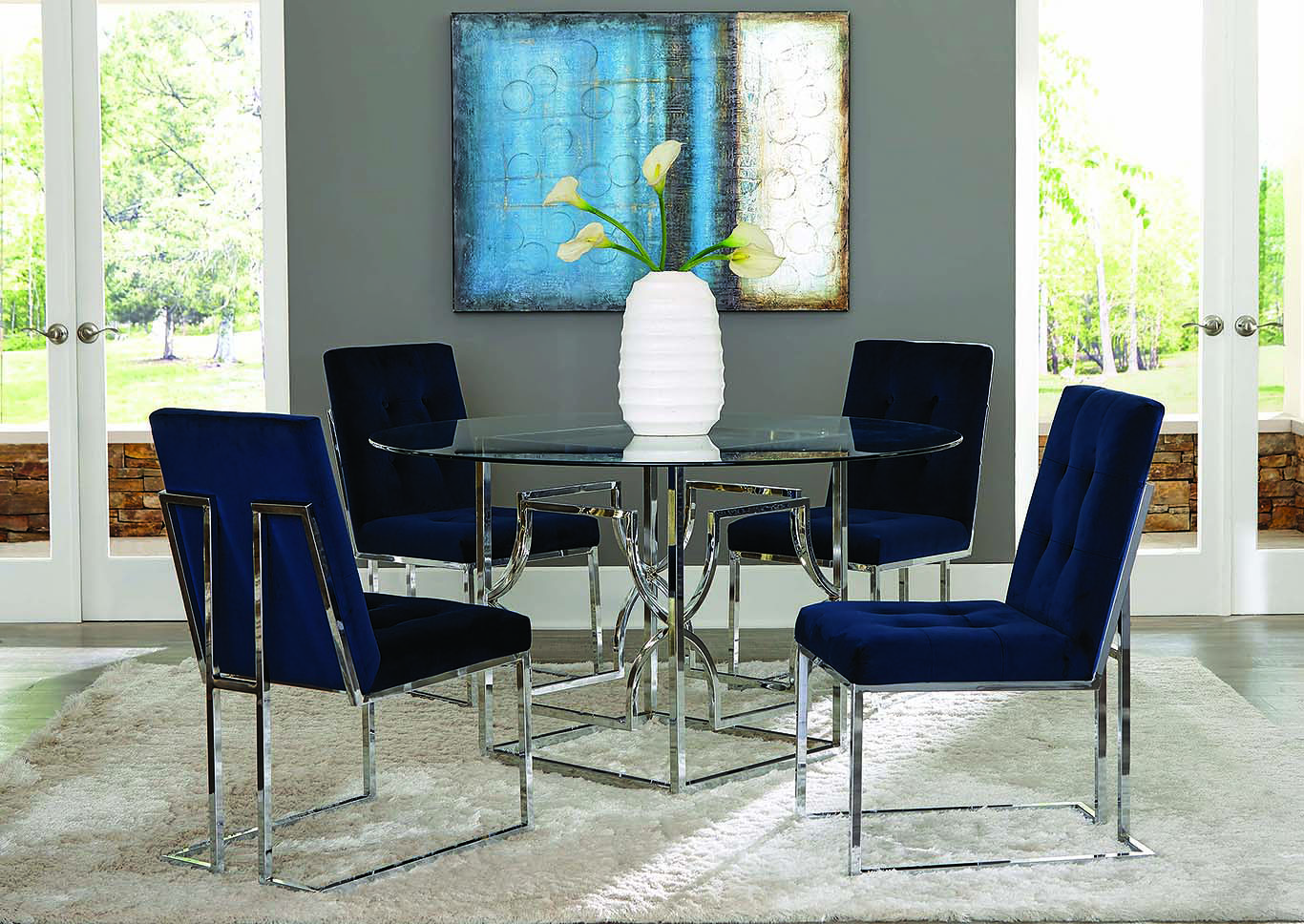 Chrome Dining Table Base,Coaster Furniture