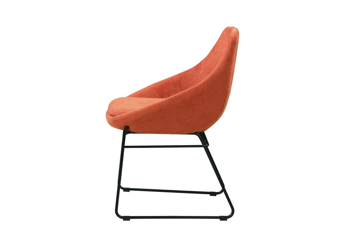 Persimmon and Matte Black Dining Chair,Coaster Furniture