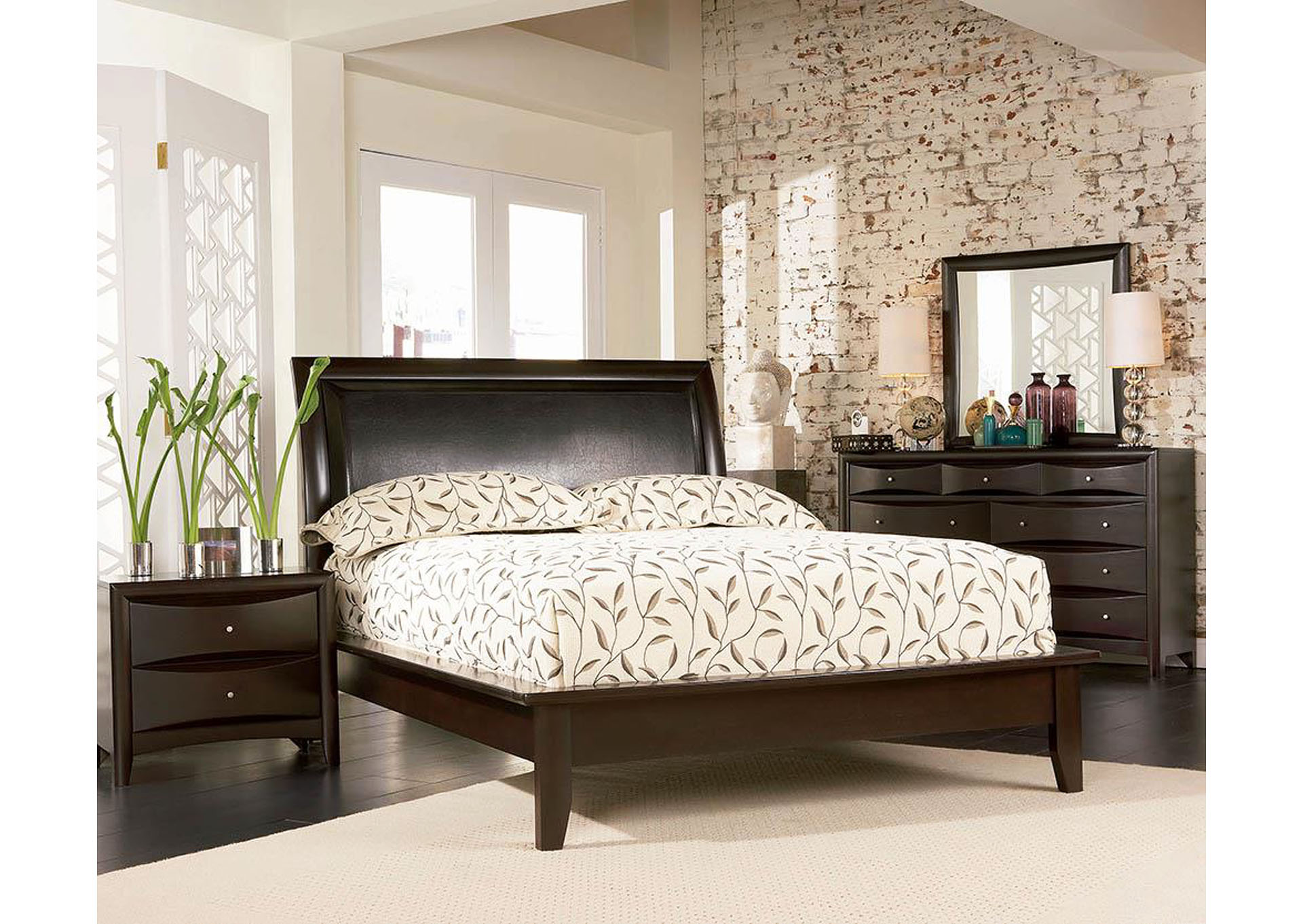 Phoenix Cappuccino Platform California King Bed,Coaster Furniture