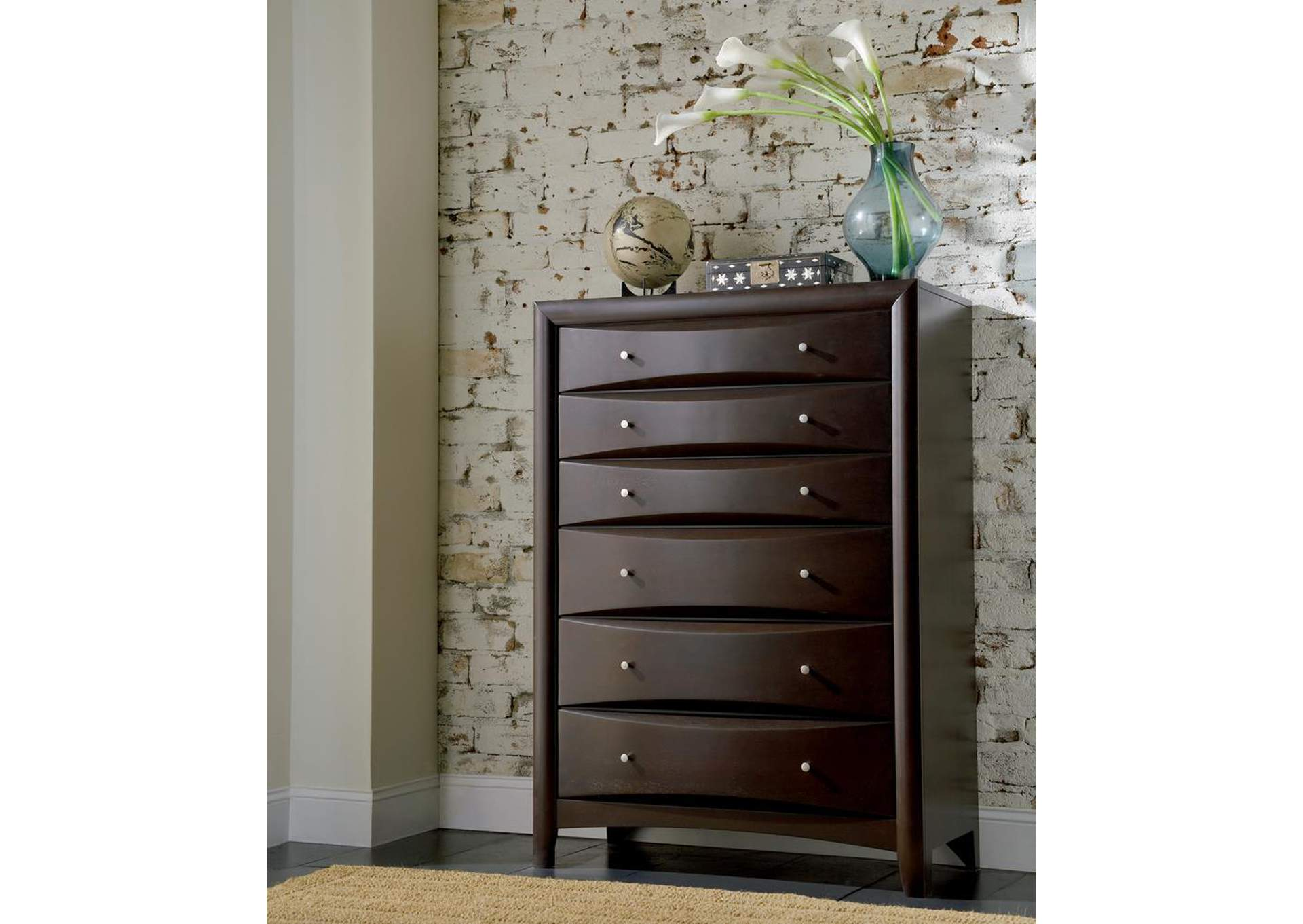 Phoenix Cappuccino Chest,ABF Coaster Furniture
