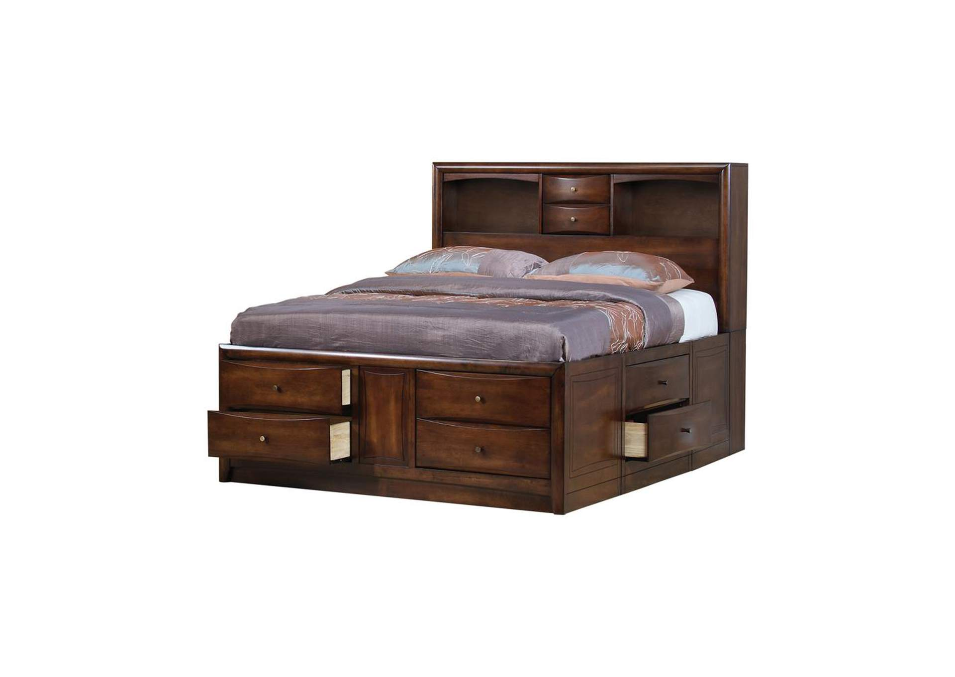 Warm Brown Hillary Eastern King Storage Bed,Coaster Furniture