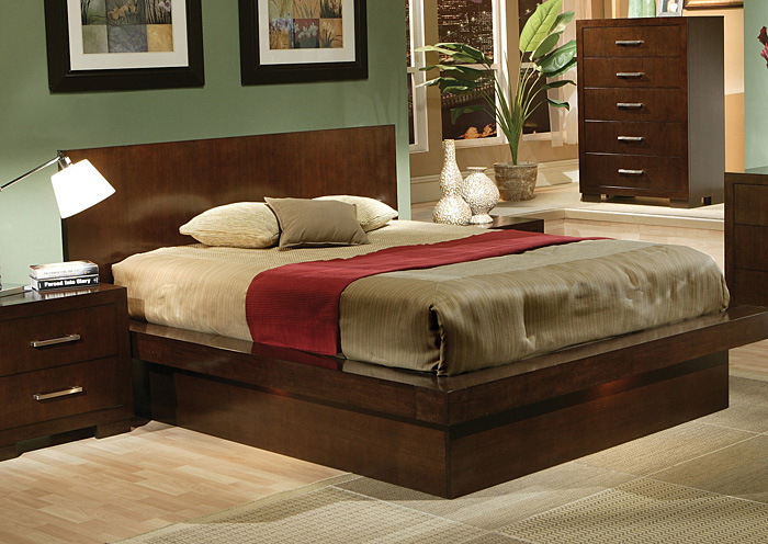 Jessica Cappuccino Queen Bed,Coaster Furniture