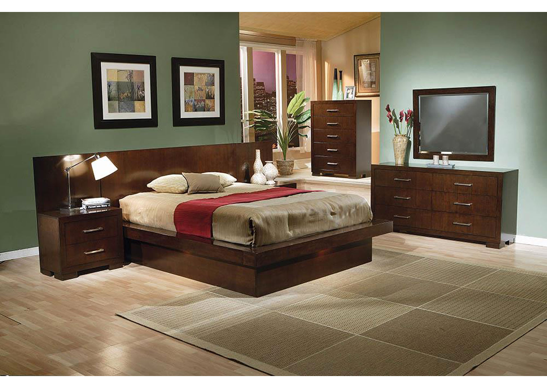 Jessica Cappuccino Queen Platform Bed,Coaster Furniture