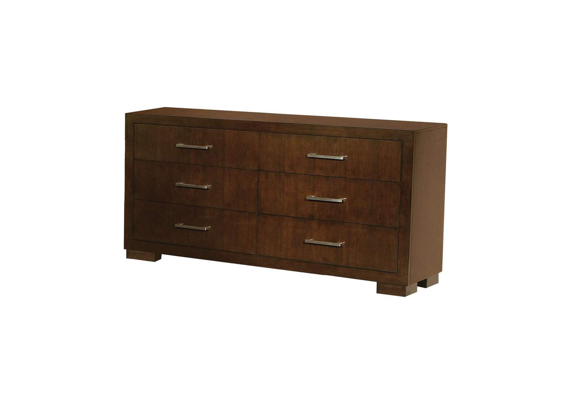 Cappuccino Jessica Cappuccino Six-Drawer Dresser,Coaster Furniture