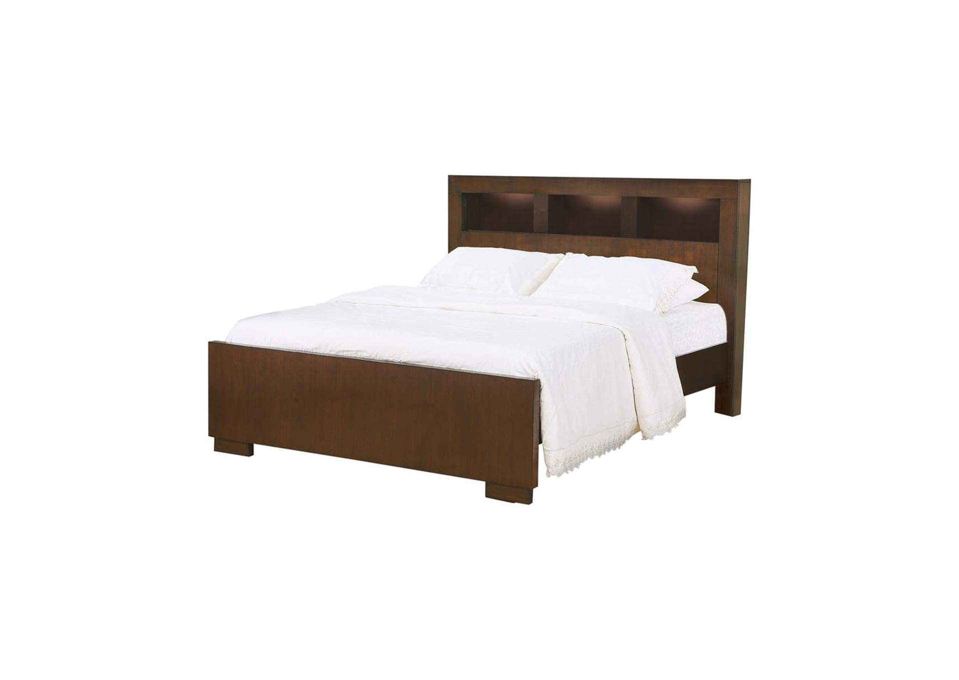 Cappuccino Jessica Contemporary Eastern King Bed,Coaster Furniture
