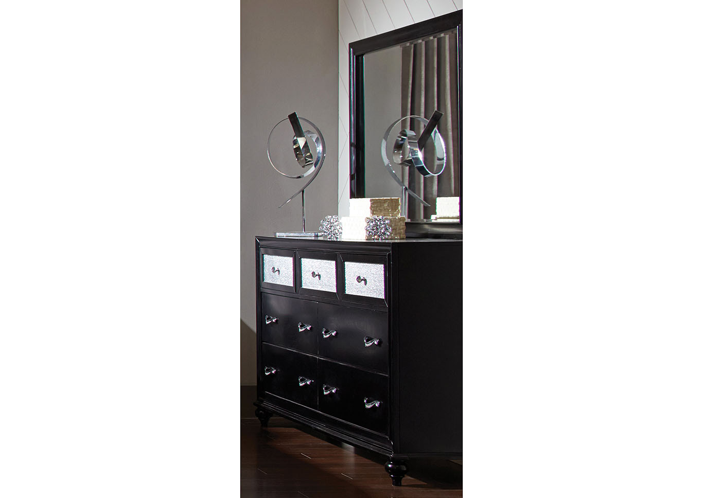 Barzini Black Dresser,Coaster Furniture