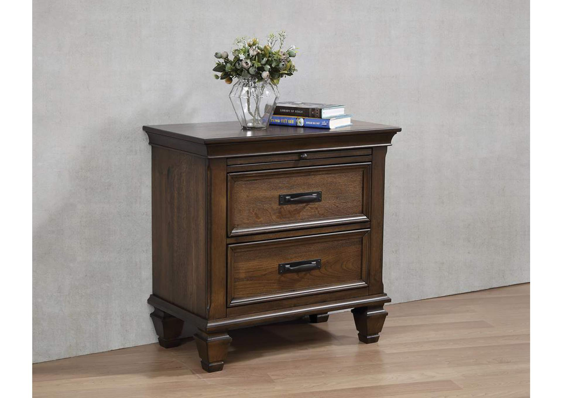 Franco Burnished Oak Nightstand,Coaster Furniture