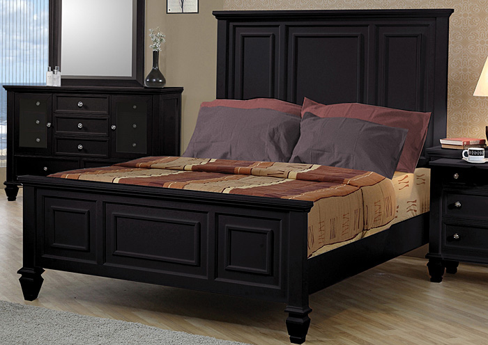 Sandy Beach Black Queen Bed,Coaster Furniture