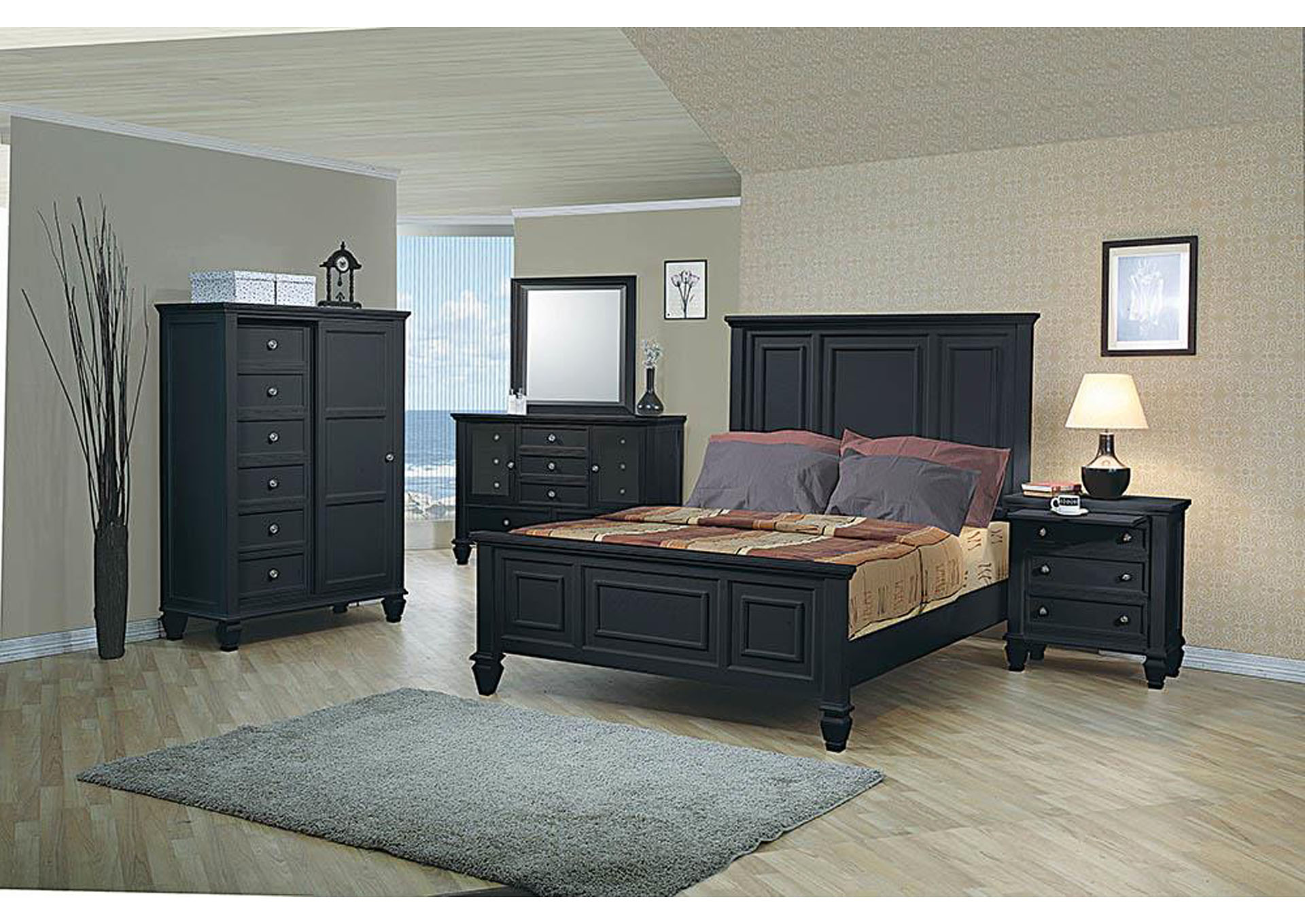 Sandy Beach Black California King Bed,Coaster Furniture