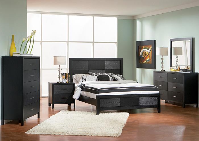 Beacon Furniture Grand Cayman Grove Black King Bed Wdresser