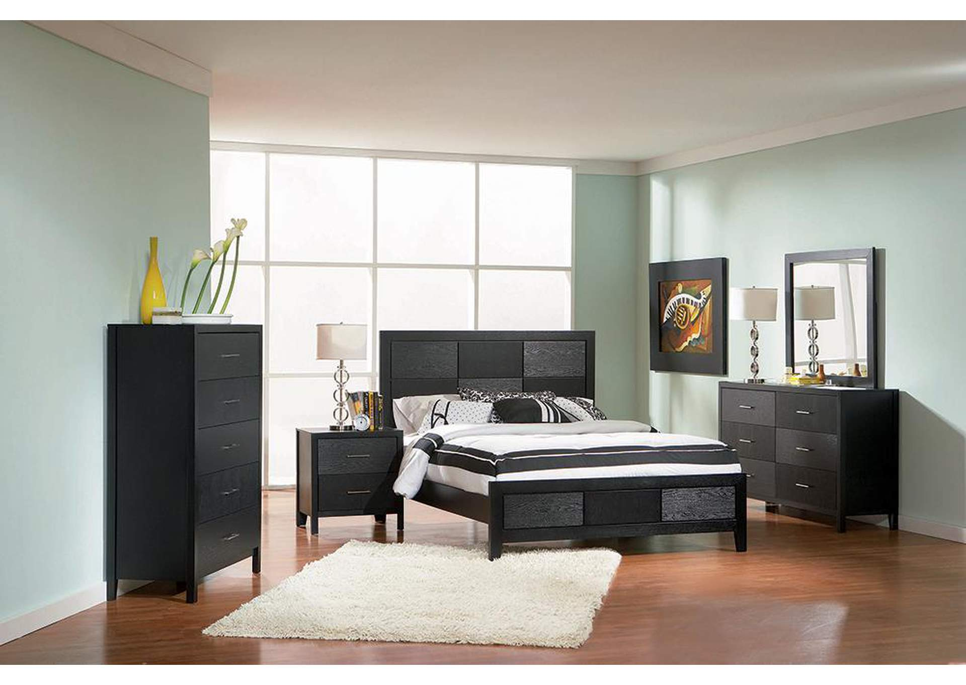Grove Black Queen Bed,Coaster Furniture