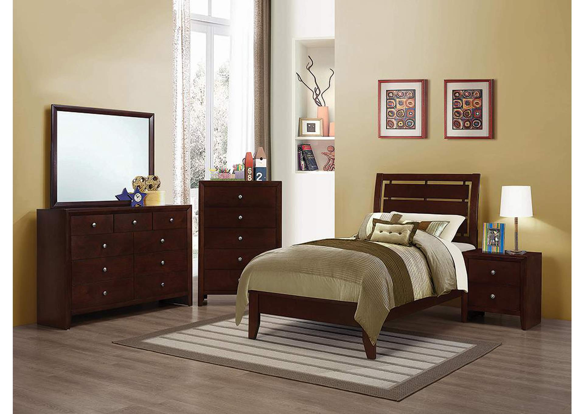 Serenity Merlot Twin Bed,Coaster Furniture