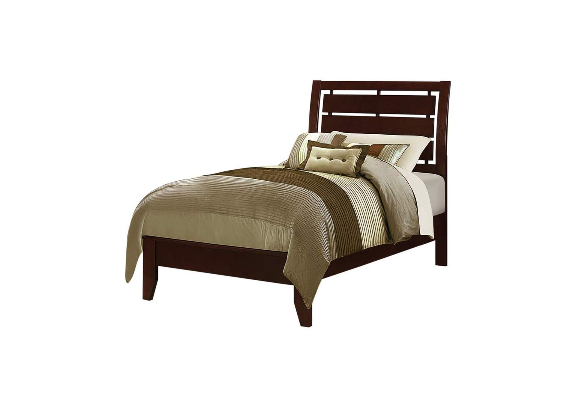 Serenity Twin Bed Rich Merlot,Coaster Furniture