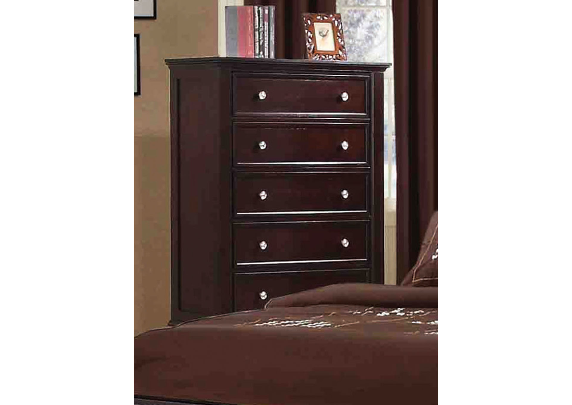Sandy Beach Cappuccino 5 Drawer Chest,Coaster Furniture