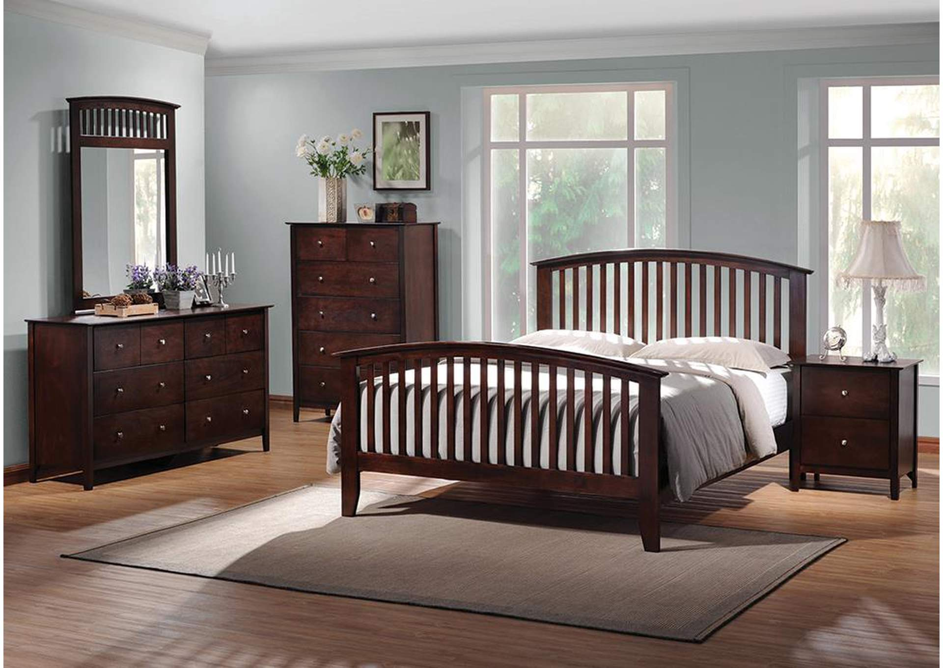 Tia Cappuccino Eastern King Bed,Coaster Furniture