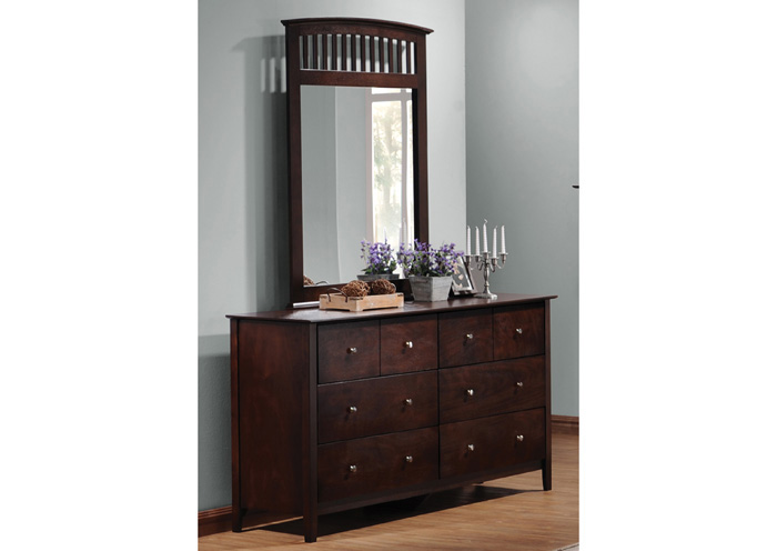 Tia Cappuccino Dresser w/Mirror,Coaster Furniture