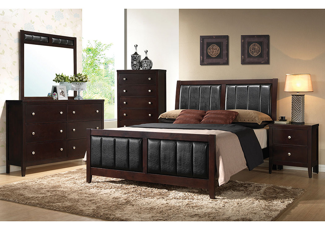 best buy furniture and mattress solid wood veneer california king bed w dresser mirror and. Black Bedroom Furniture Sets. Home Design Ideas